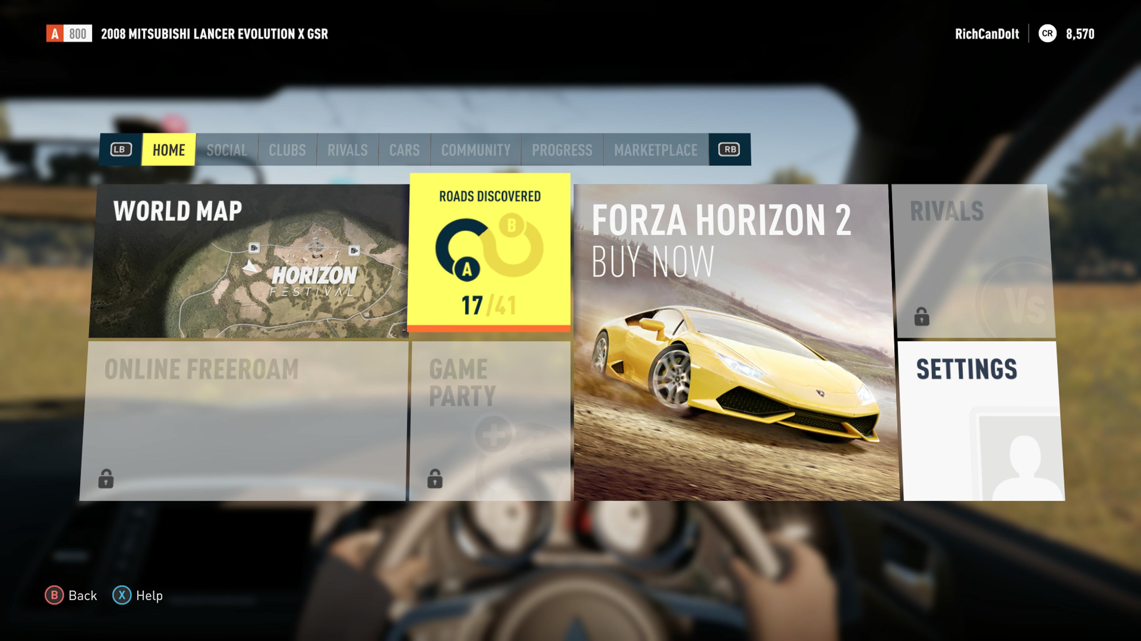 Forza Horizon 2 Demo — XboxReplay net